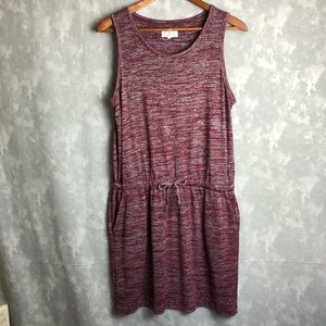 Lou & grey maroon red tank dress with pockets